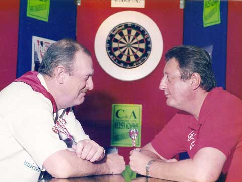 Eric Bristow making me laugh.